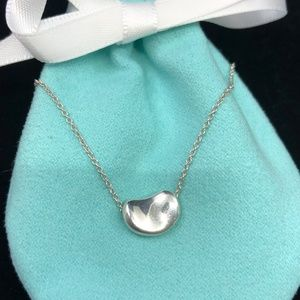 TC122 Silver Bean Necklace Peretti Pendant